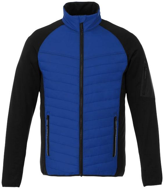Textile publicitaire - Doudoune publicitaire hybride Banff homme  - bleu
