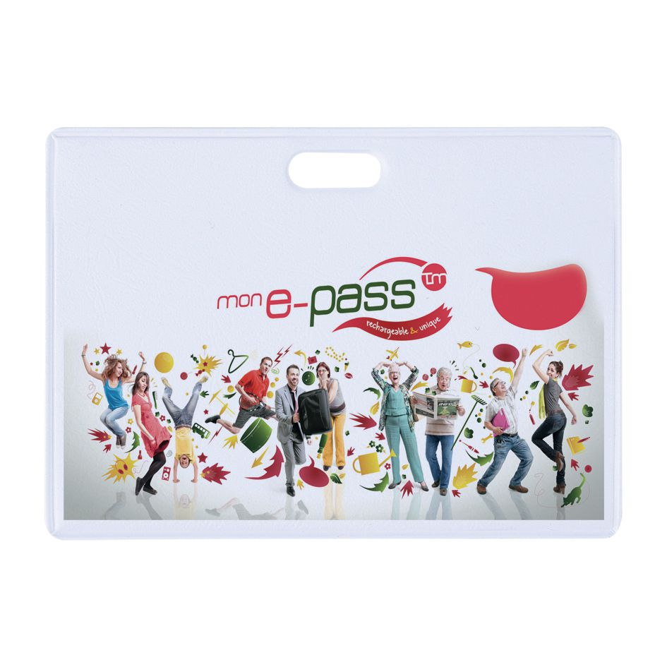 Porte-badge promotionnel Crowd - porte-badge publicitaire
