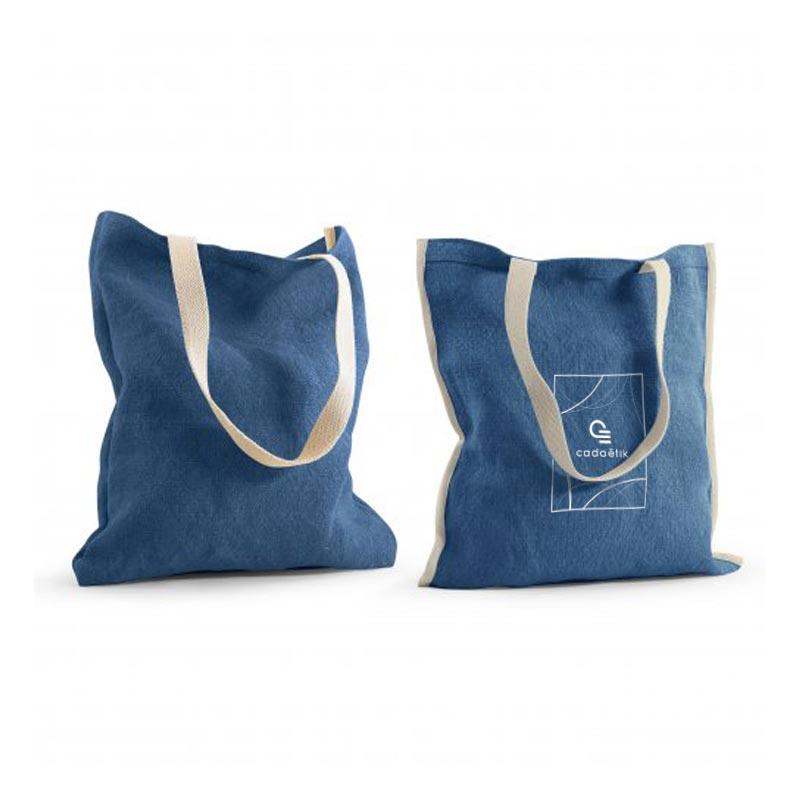tote bag publicitaire réversible topday bleu