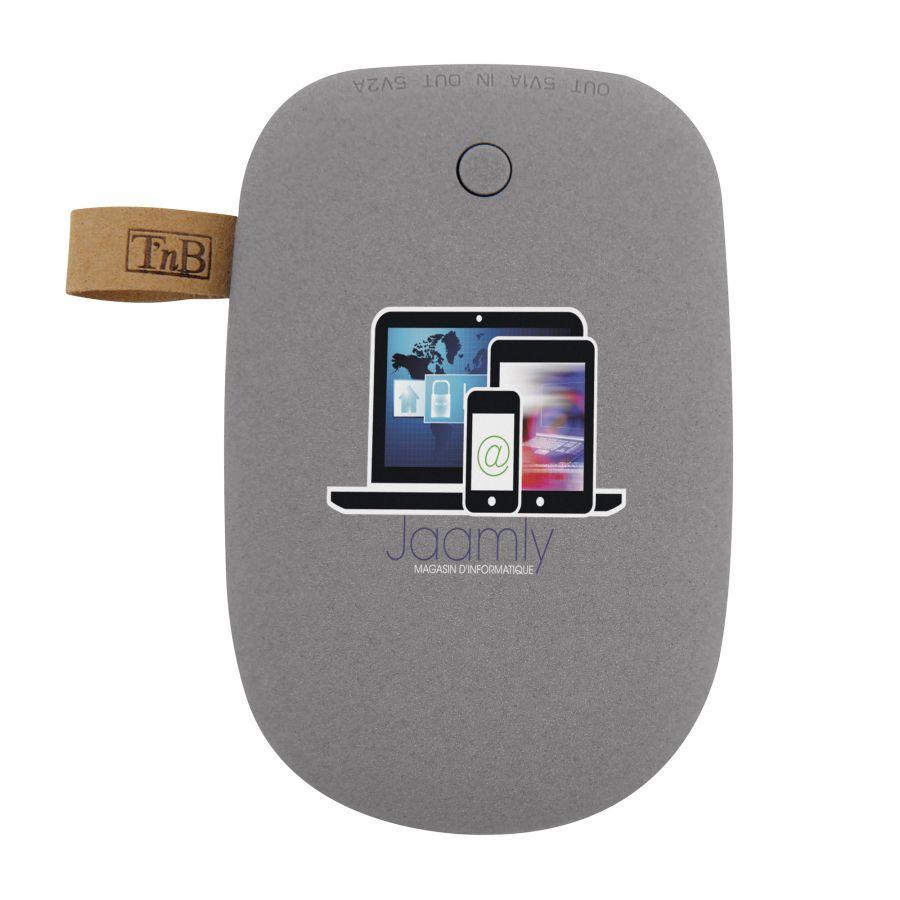 Batterie de secours personnalisée Stone 6600 mah - cadeau d'entreprise