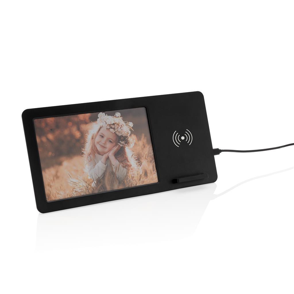 cadre photo avec chargeur induction face
