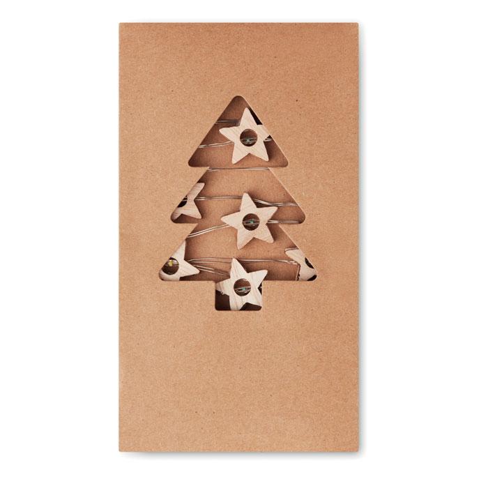 Goodies Noël - Guirlande en bois dans boîte en carton personnalisable