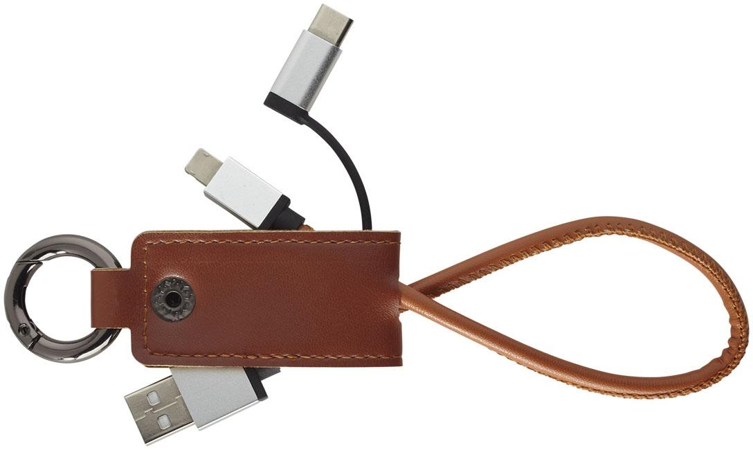 Câble de chargement publicitaire 3 en 1 Posh - accessoire high-tech personnalisable