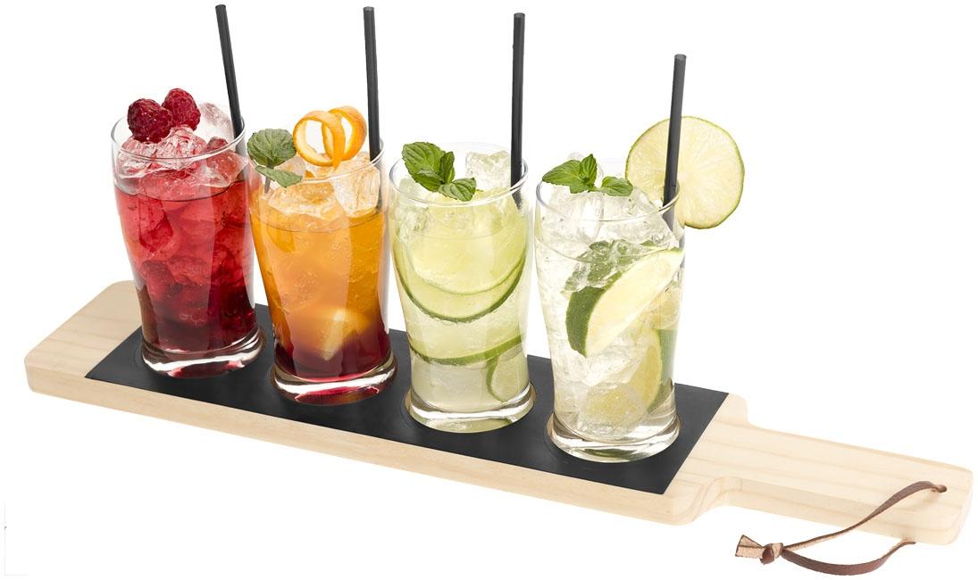 Cadeau d'entreprise cuisine - Set plateau et verres personnalisables Cheers