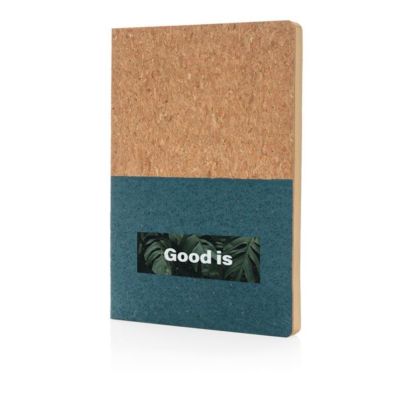 Carnet de notes A5 personnalisable Eco en liège Oian