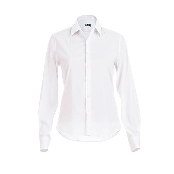 Chemise personnalisée en popeline pour femme Parisienne - textile publicitaire