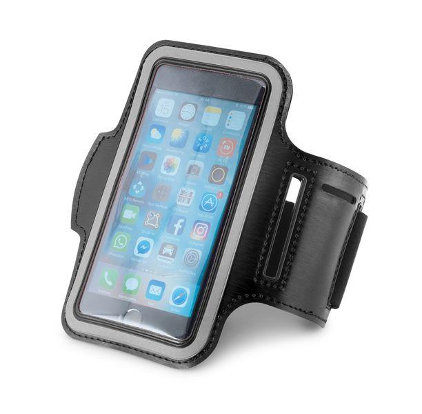 Accessoire publicitaire high-tech - Brassard pour smartphone publicitaire 5 pouces - noir