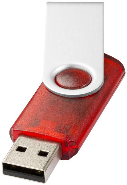Clé USB rotative translucide