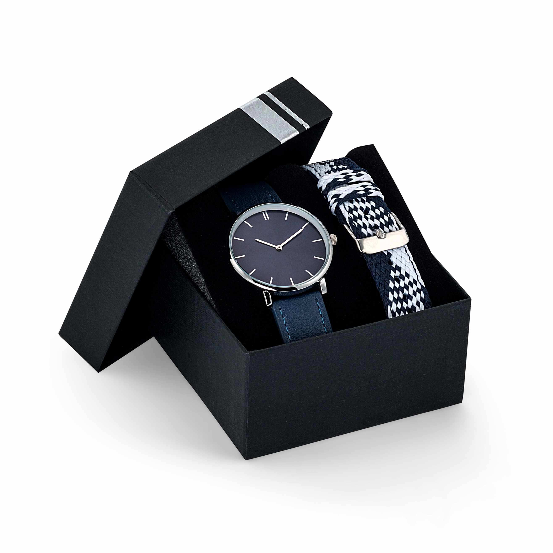 Cadeau publicitaire - Montre personnalisée GIULIA façon cuir