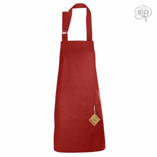 Tablier personnalisé en coton bio Master Cook  rouge- cadeau publicitaire écologique