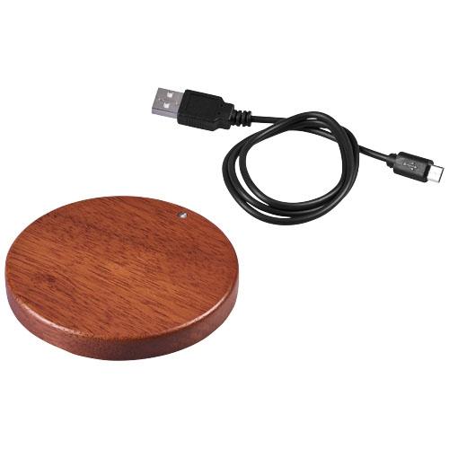 Chargeur induction publicitaire en bois Bora - cadeau publicitaire écologique