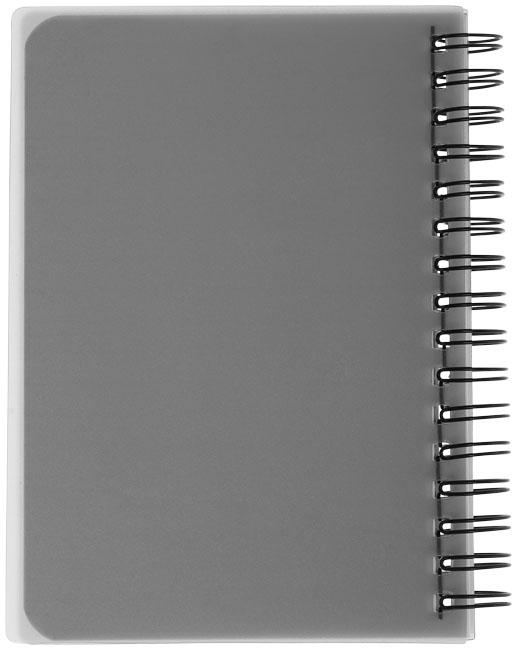 Carnet publicitaire Colour Block A6 - carnet personnalisable noir