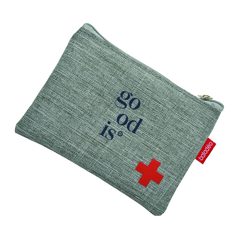 Goodies BtoB couverture de survie avec pochette grise