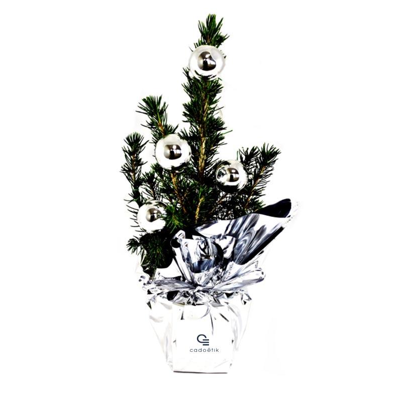 Mini arbre publicitaire en pot sapin de Noël