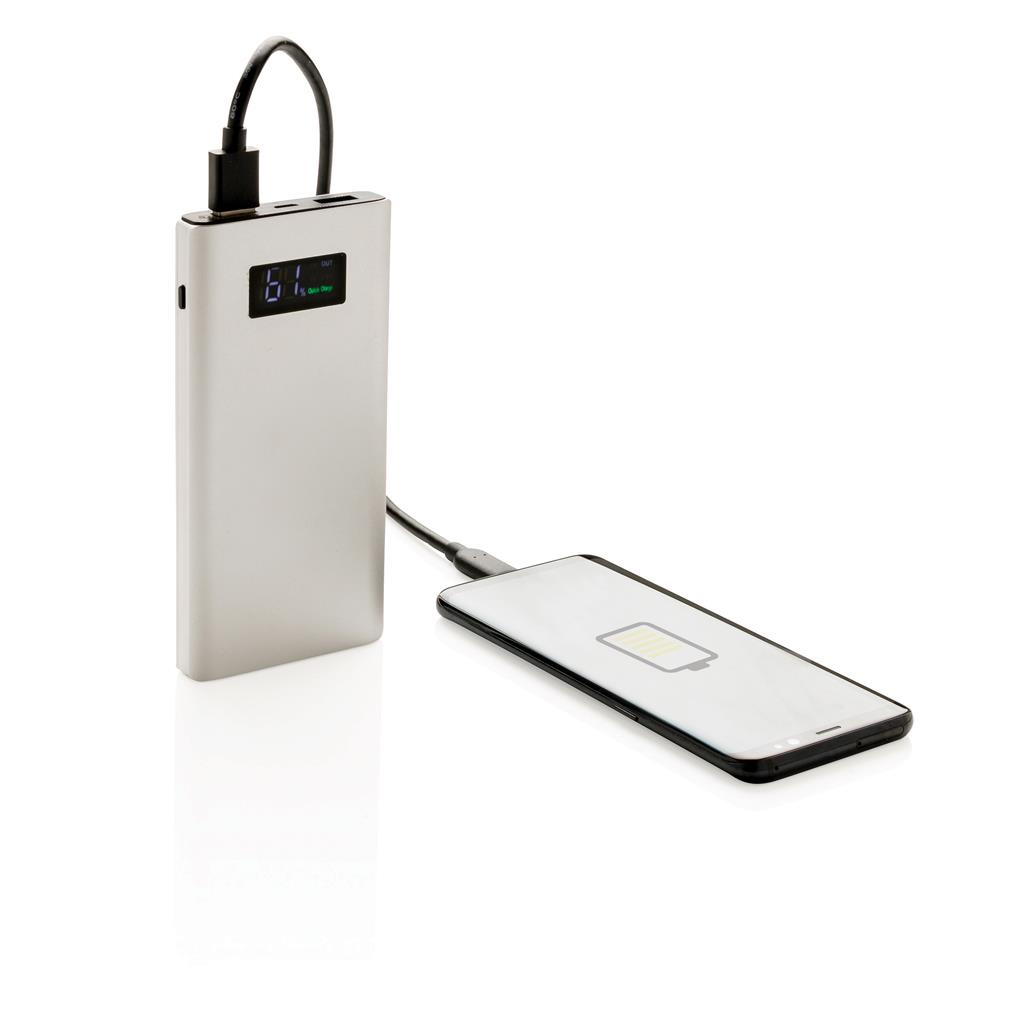 Powerbank publicitaire 10000 mAh  Quick charge - cadeau d'entreprise high-tech