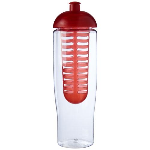 Bouteille de sport publicitaire et infuseur H2O Tempo® 700 ml avec couvercle dôme - rose