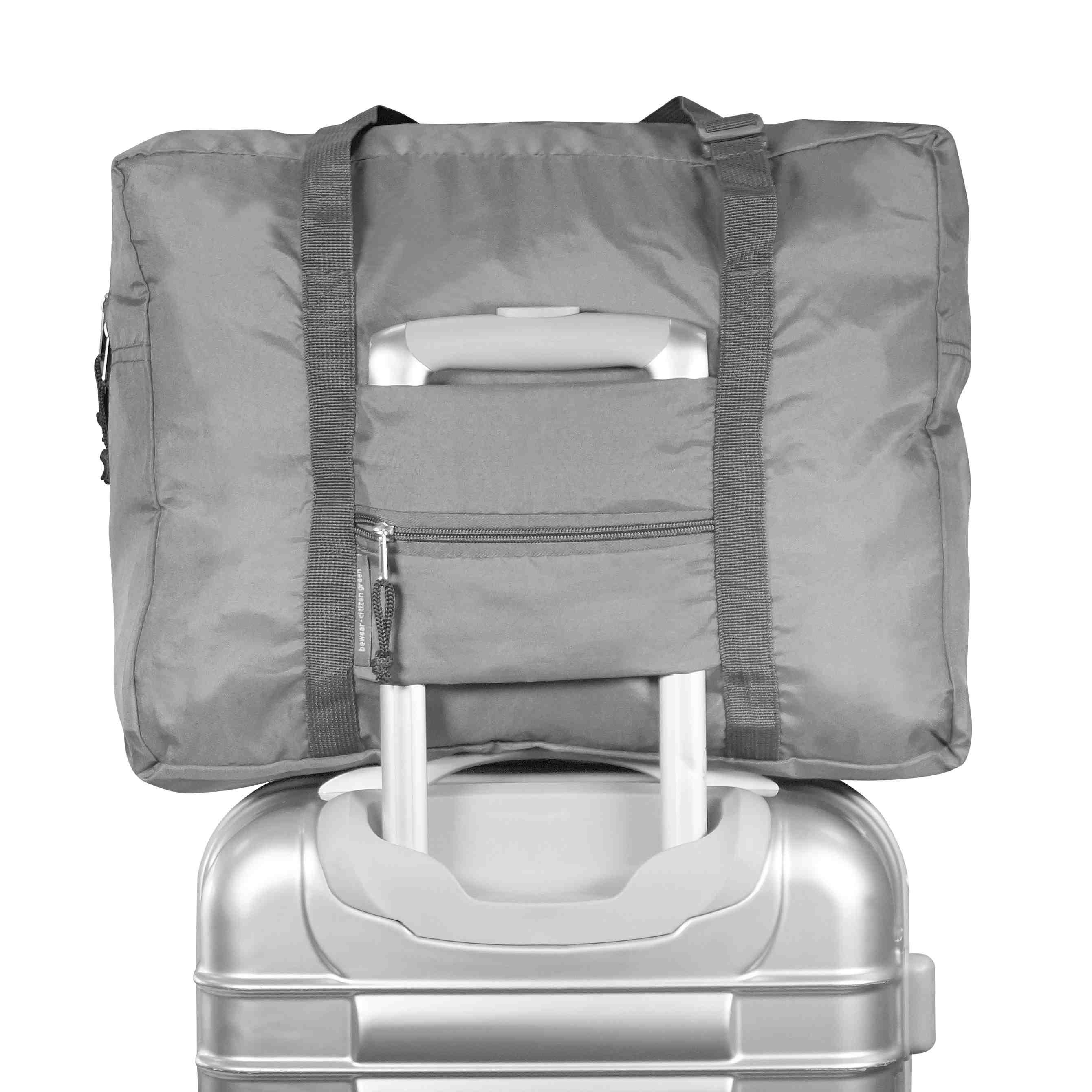 Sac de voyage personnalisable écologique Keyfly gris - sac de voyage publicitaire