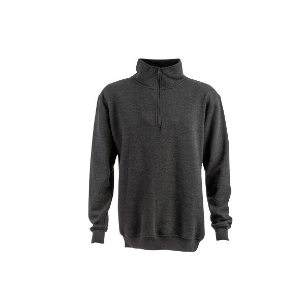 Sweat-shirt publicitaire col zippé unisexe Budapest - sweat-shirt personnalisé