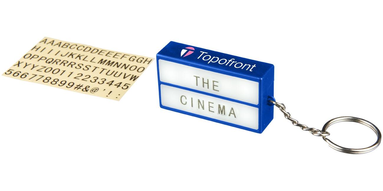 Porte-clés publicitaire lampe Cinéma - porte-clés personnalisable
