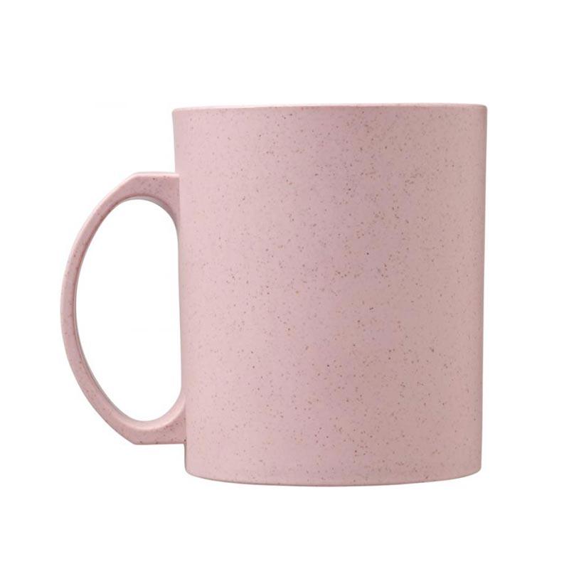 Mug réutilisable en fibres de paille de blé Pécos - rose