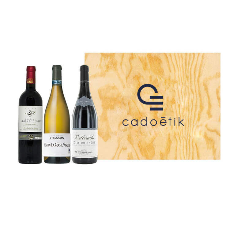Coffret vin publicitaire 3 Bouteilles Tour de France