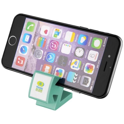 cadeau publicitaire - support de smartphone multifonction Dock bleu