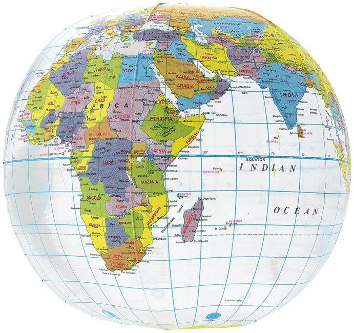 Objet publicitaire - Ballon de plage personnalisé transparent Globe