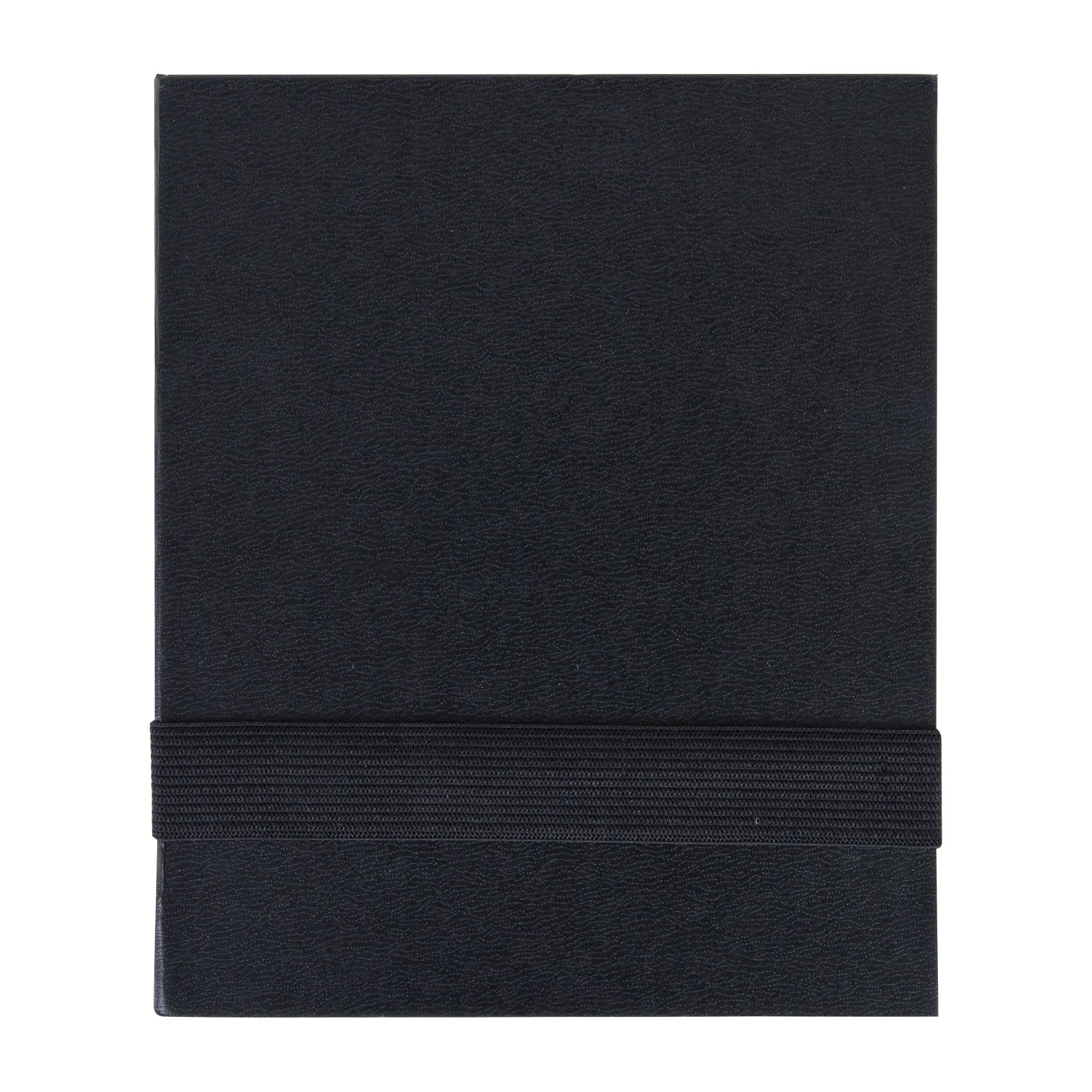 Bloc-notes publicitaire A7 adhesifs et stylo Black - objet publicitaire