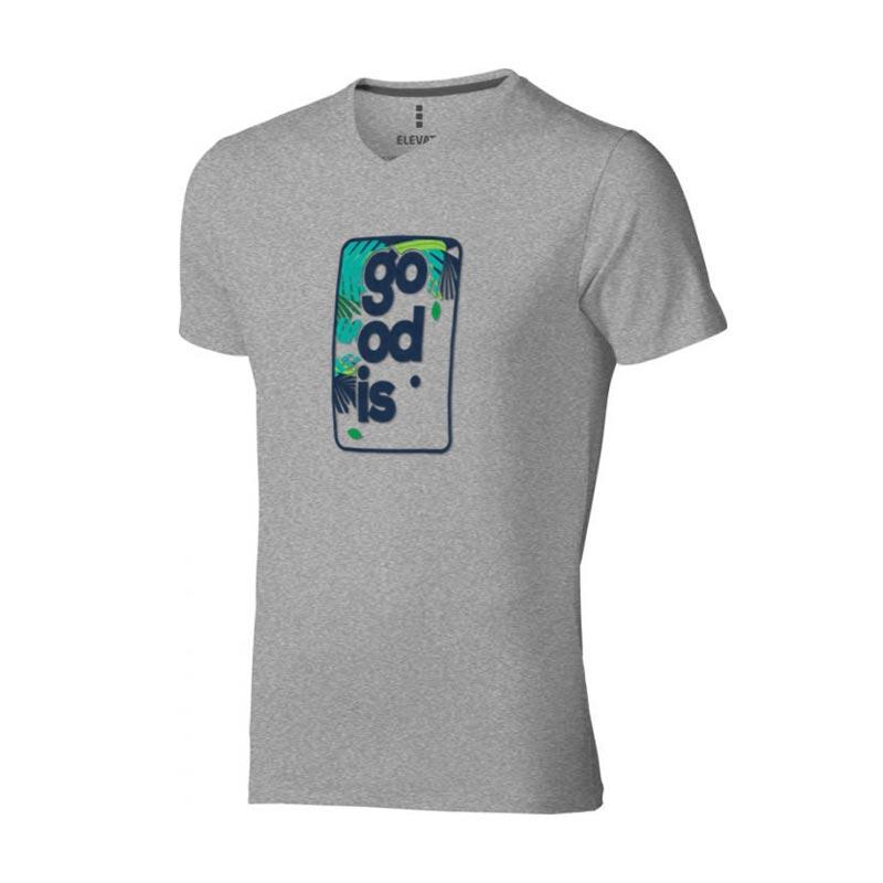 Textile publicitaire - T-shirt bio personnalisé manches courtes homme Kawartha