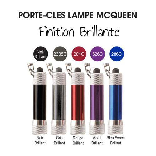 Porte-clés lampe personnalisée McQueen - cadeau publicitaire