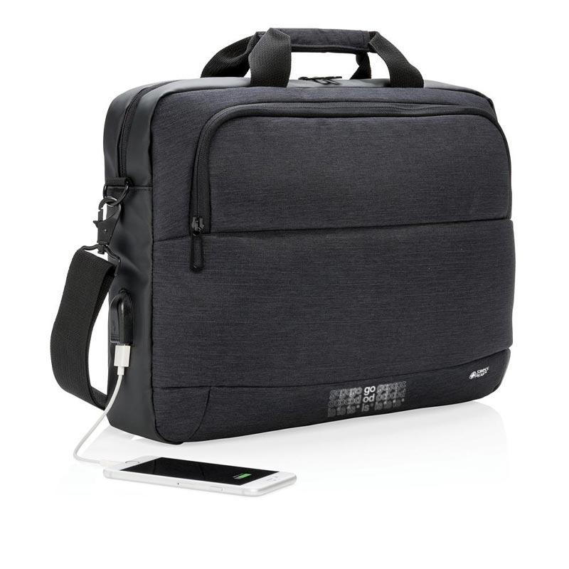"""Cadeau d'affaires - Sacoche pour ordinateur portable 15"""" Swiss Peak"""