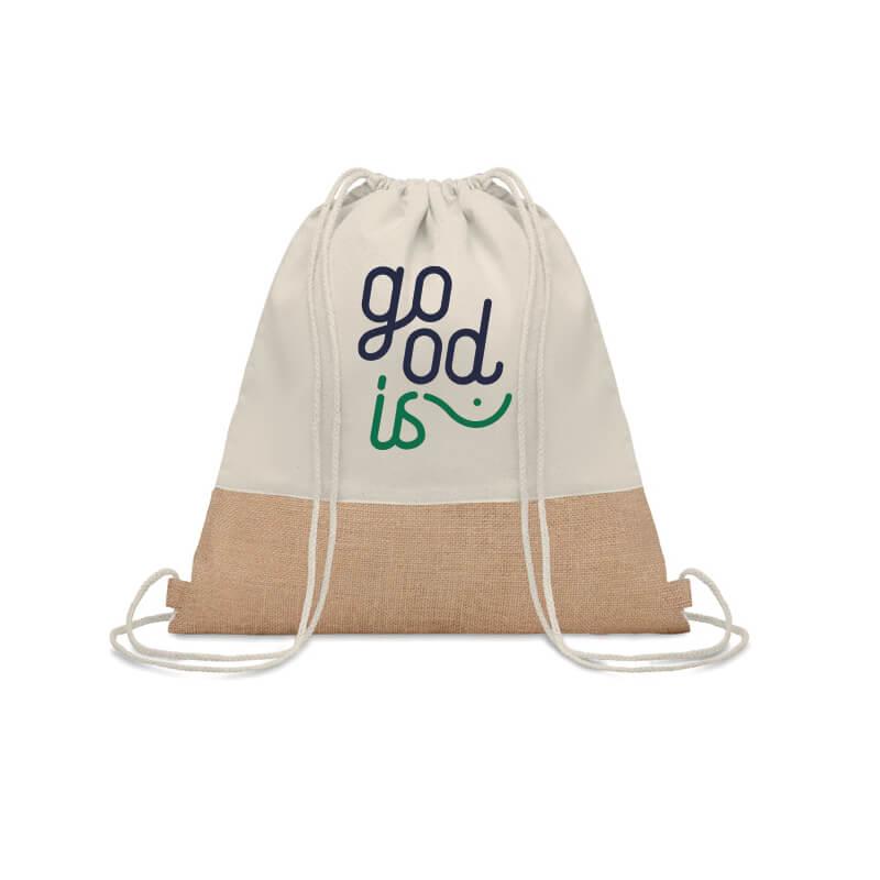 Gym bag personnalisé - Sac à cordon avec détails jute INDIA