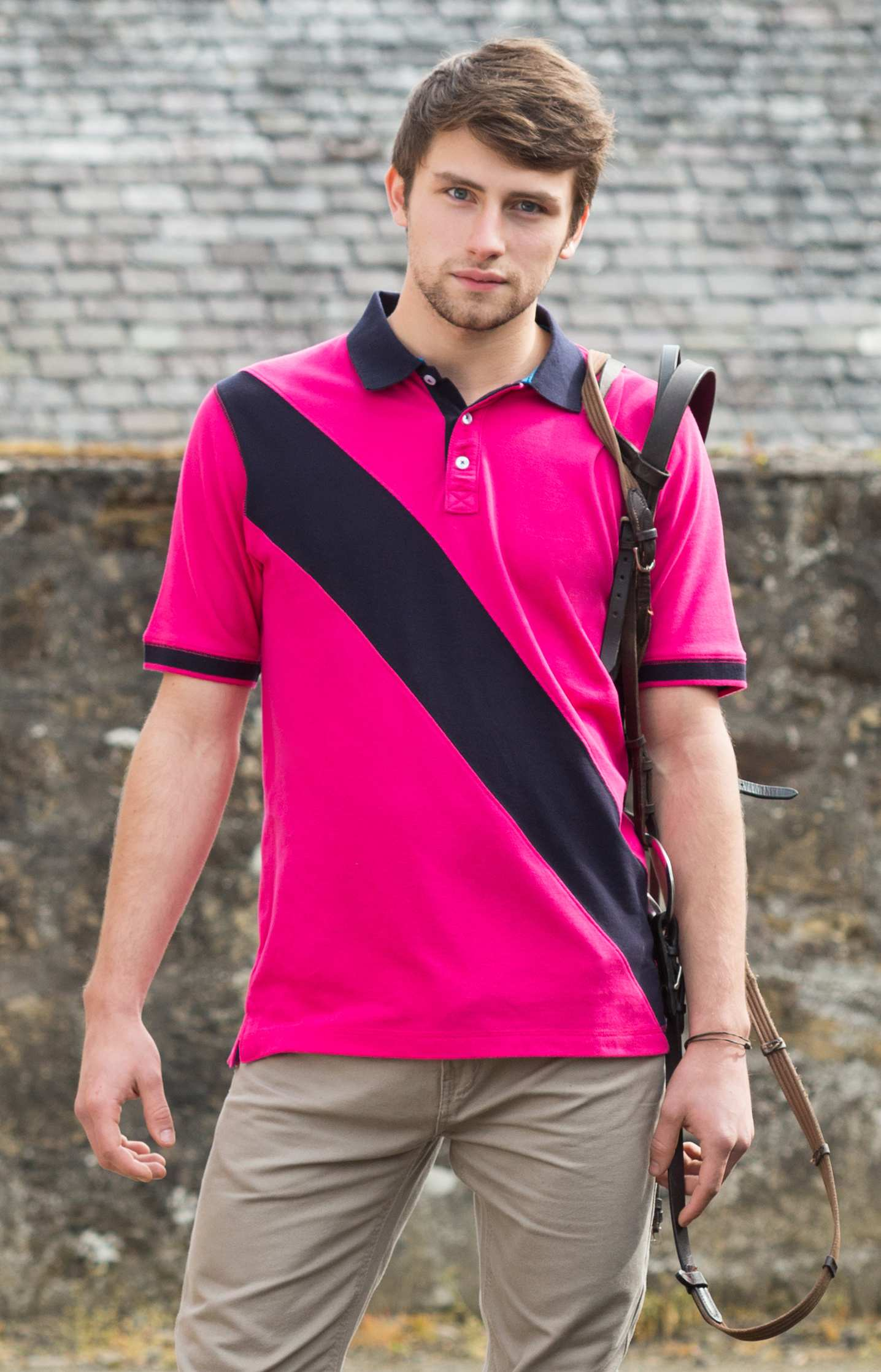 Polo promotionnel Stripe Rugby - polo publicitaire