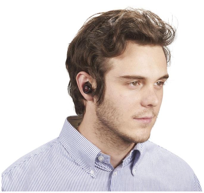 Écouteurs sans fil avec pochette Dynamic - objet publicitaire high-tech