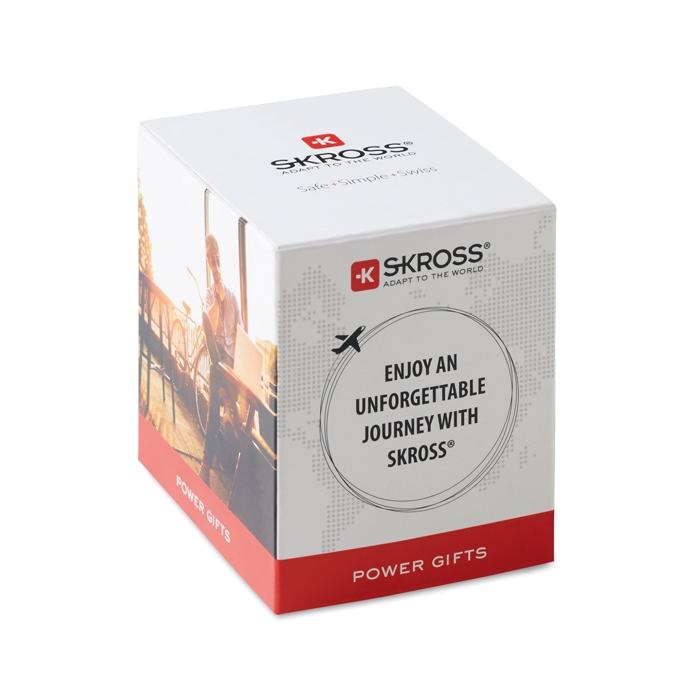 Cadeau publicitaire pour le voyage - Adapateur universel PRO World & USB 3-pole