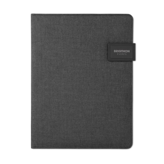 Cadeau d'entreprise - Conférencier A4 personnalisé et powerbank Powerfoldy
