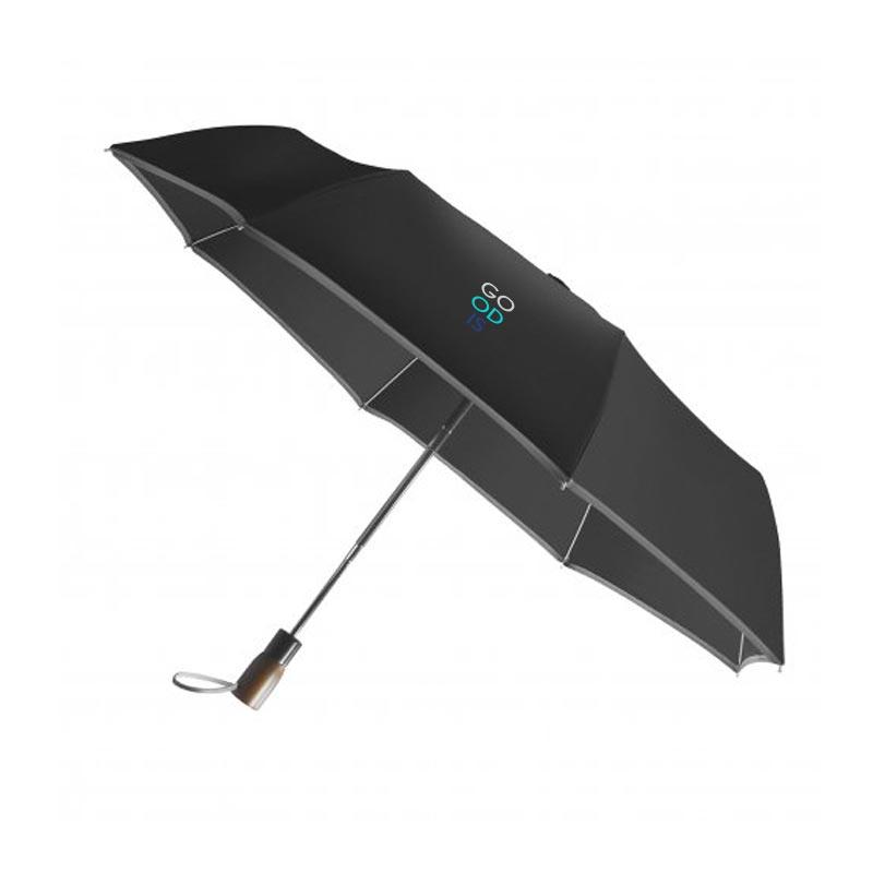 Parapluie publicitaire écologique pliable Lumirain