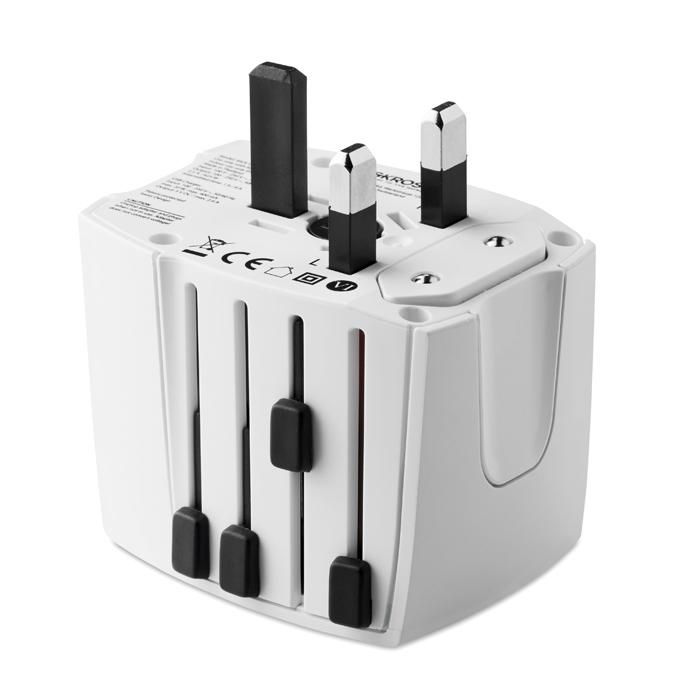Adaptateur de voyage publicitaire MUV USB SKROSS® - cadeau publicitaire voyage