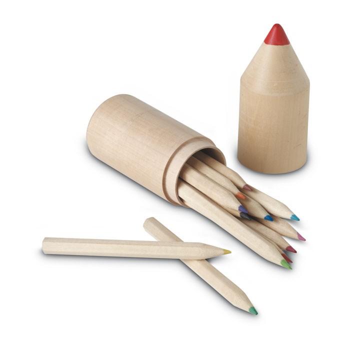 Kit de 12 crayons de couleur publicitaires - cadeau publicitaire écologique