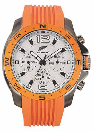 Cadeau d'entreprise - Montre publicitaire All Blacks® orange