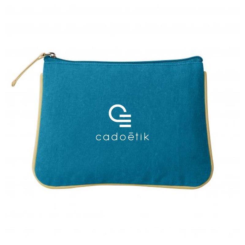 Trousse de voyage publicitaire en coton bio Colorday - Cadeau d'entreprise