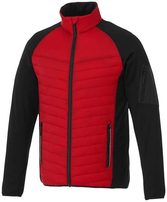 Textile publicitaire - Doudoune publicitaire hybride Banff homme  - rouge