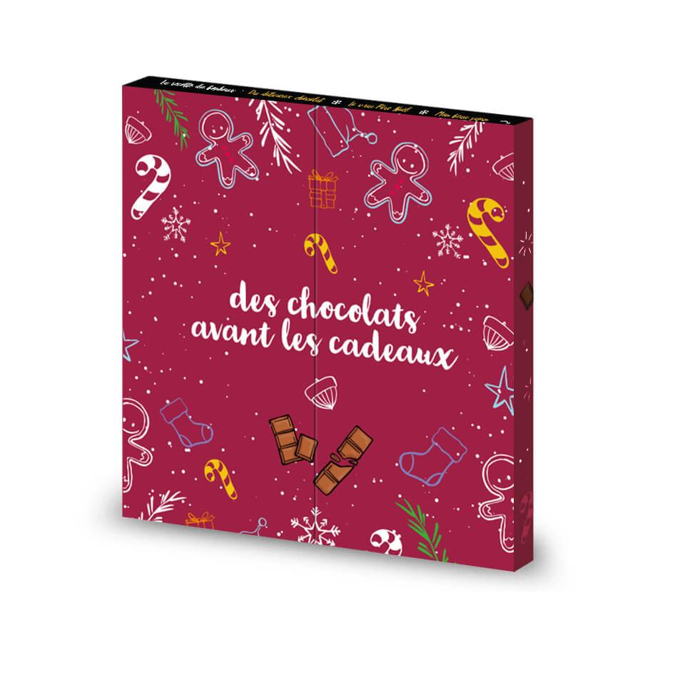 Calendrier de l'Avent Thème - Chocolat publicitaire