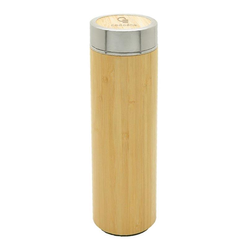 Bouteille isotherme en bambou à personnaliser Onsen