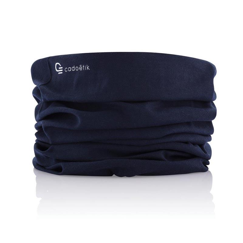 écharpe publicitaire multifonctionnelle bleue
