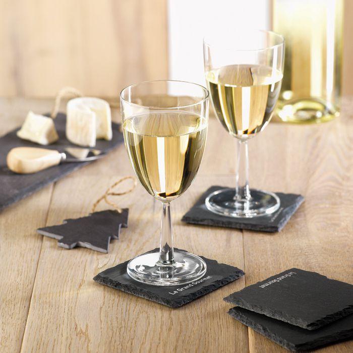 Cadeau d'entreprise de fin d'année - Sous-verres en ardoise Slate4