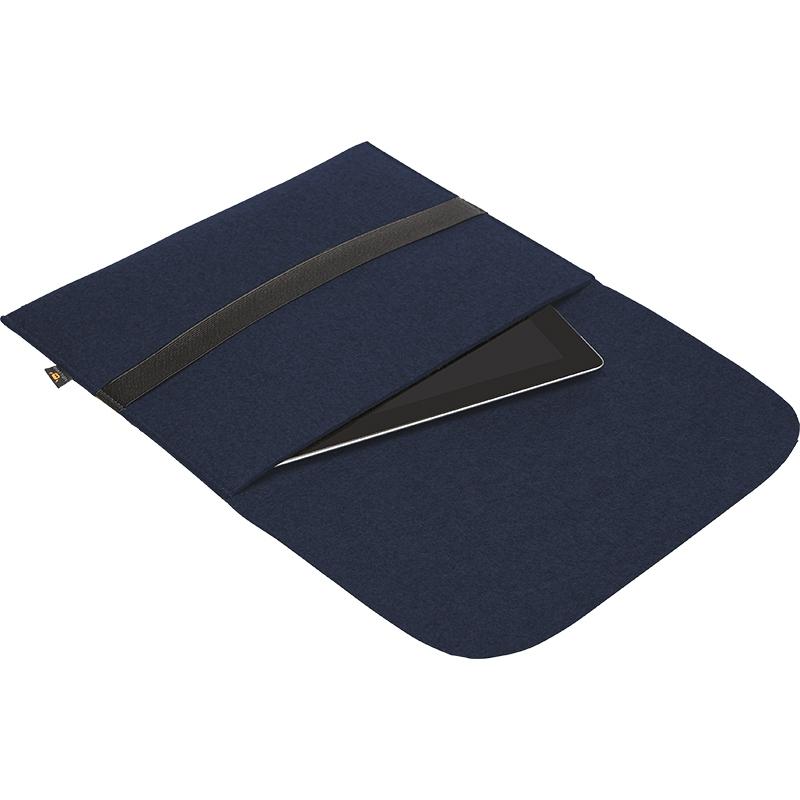 Porte-documents publicitaire pour tablettes bleu marine
