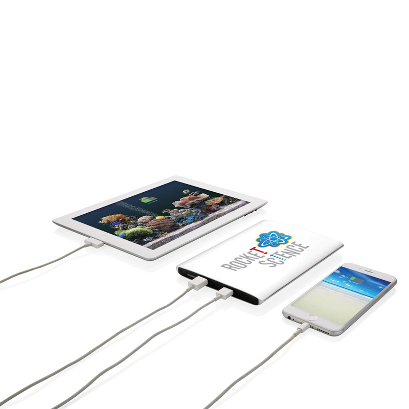 Batterie de secours personnalisable Roc - cadeau d'entreprise high-tech