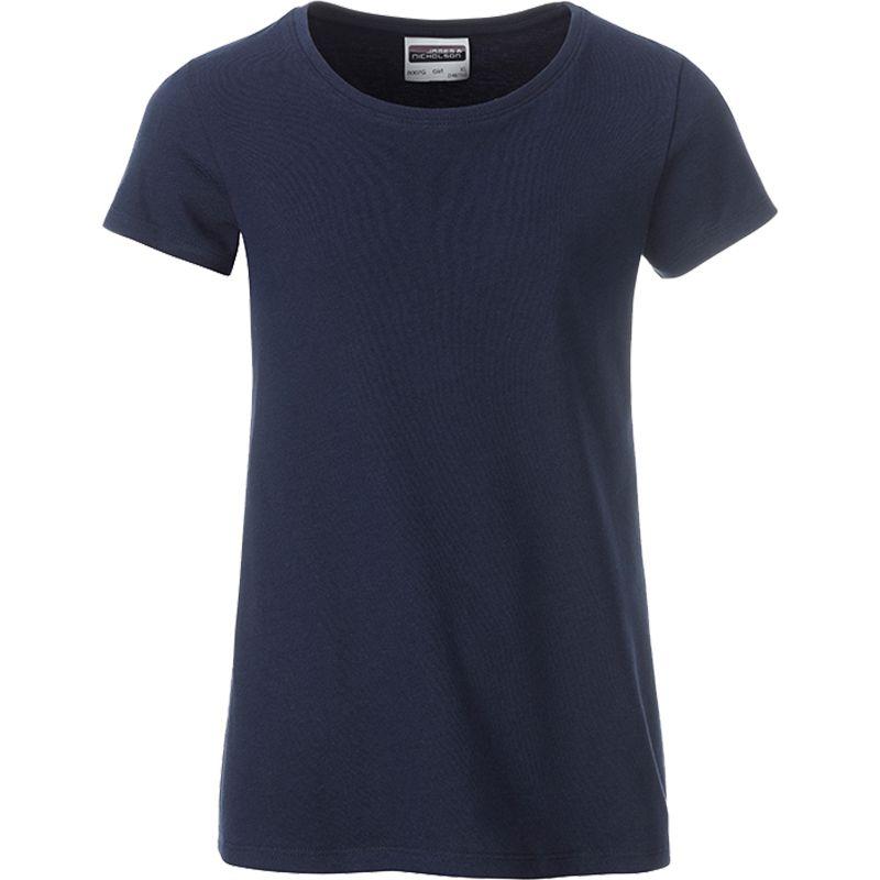 T-shirt personnalisé bio Enfant Kim - Tee-shirt publicitaire biologique - turquoise
