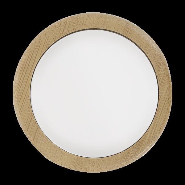 miroir de poche 1 face en bambou